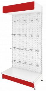Стеллаж пристенный прямой с перфорированными панелями